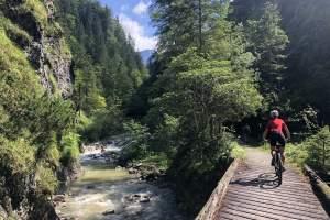 Auffahrt in der Wildenbachklamm